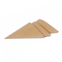 Food Grade Custom Printing Disposable Foldable Kraft Paper French Fries Cone for snack food