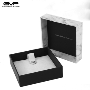 Fashion marble jewelry boxes set for rings and necklace and earring
