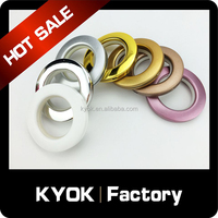 2015 latest design 50mm ABS curtain rings,decorative small plain metal rings for curtain rod