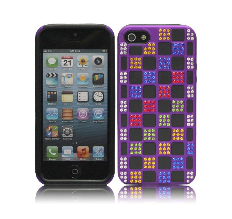 Colourful Crystal Design Shining Diamond case for iPhone5,for iphone 5 diamonds case cover