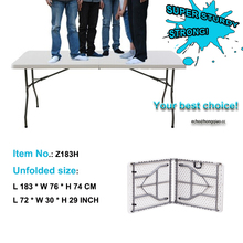 6t Plastic Folding Table with metal table legs outdoor table set