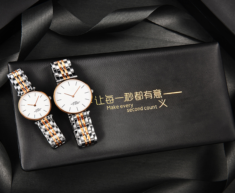 316L stainless steel band couple watch 6mm minimalist valentine brand watches high end watches