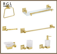 17300 goods of high demand luxury design wall mounted gold bathroom accessories set