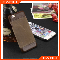 Luxury Flip high quality Jeans+PU Leather Mobile Phone Case for Apple iphone 6/6s Cover Bags