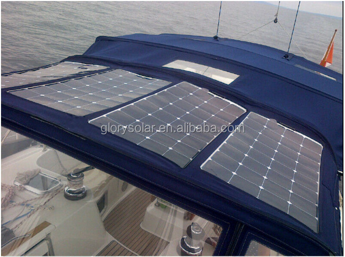 100W 18V Flexible Solar Panel Solar Panel Manufacturers In China For Rv, Boat, Cabin, Tent Or Any Irregular Surface Roof System