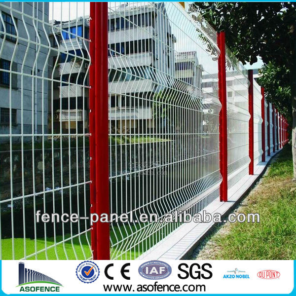 galvanized fold wire mesh fence/3D curved wire mesh fence( Anping FACTORY)