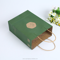 2018New design eco-friendly green tea bag latest arrival green kraft packaging bag at low price