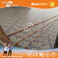 Film Faced Plywood / WBP glue poplar/combi/hardwoood core film face plywood