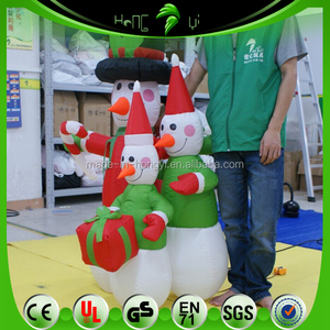 Good Quality Inflatable Small Christmas Snowman , Custom Inflatable Lovely Snowman Cartoon For Holiday Decorative