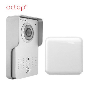 ACTOP WIFI-602 silver wireless video door phone for villa intercom