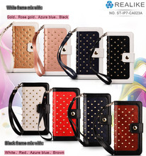 China Products wholesale bling bling wallet case for HTC desire 816 black