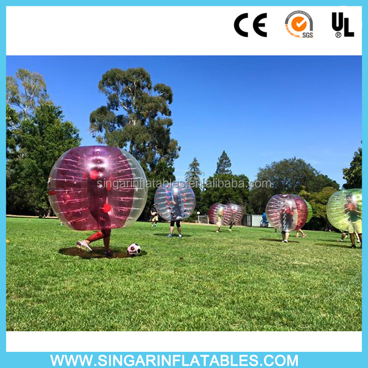New 0.8mm PVC 1.5m bubble soccer ball for sale