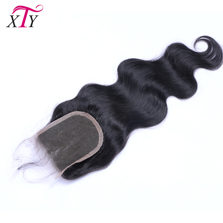 100% Brazilian Virgin Human Hair Natural Color 4x4 Body Wave Lace Closure