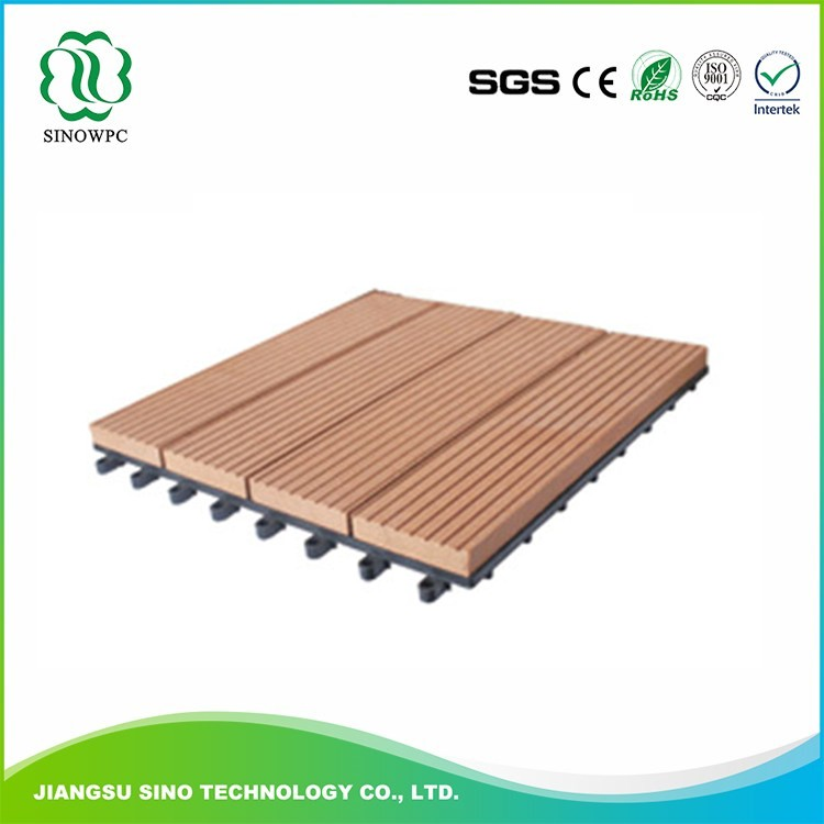 Sinowpc High quality DIY cheap wpc waterproof interlocking composite decking