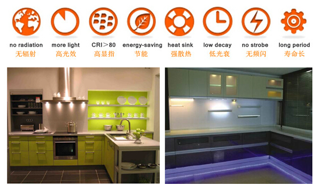 DC12V Puck lght led cabinet lighting with clear cover