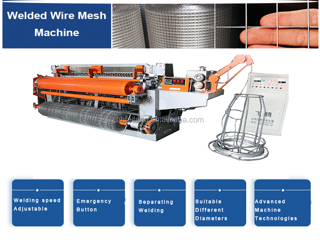 Fully automatic wire mesh welding machine(roll)