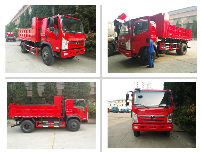 Construction loading capacity 4 ton to 10 ton 6 wheel standard dump truck dimensions