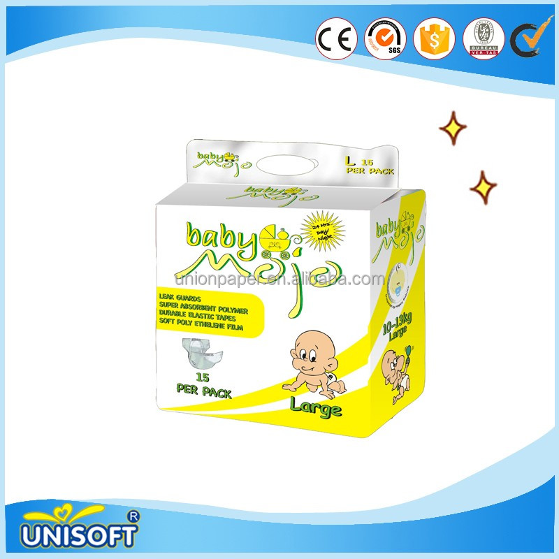 Quanzhou New Children's Product Colth Like Disposable Raw Material Disposable Baby Diapers