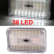 New 2016 Fashion Car Rectangular 36 SMD LED Dome Roof Ceiling Interior Light Lamp-White Light