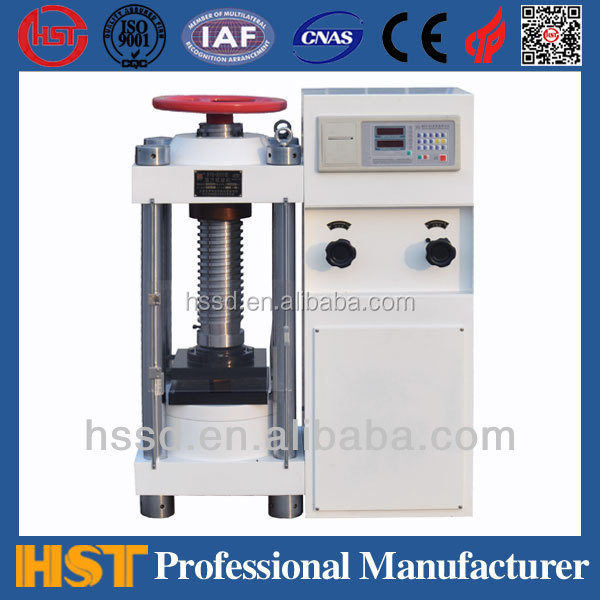 CE certification approved YES Digital Display manual concrete Compression Testing Machine , compression instrument
