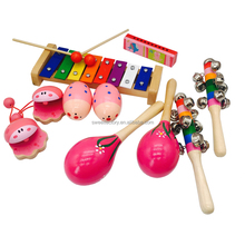 2018 hot selling wooden educational toy music instrument percussion set for kids