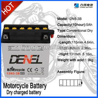 12V 5AH LEAD ACID BATTERY FOR QIANJIANG C100MOTOR 12N5-3B