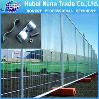 Factory hot sale anti rust movable metal safety temporary fence