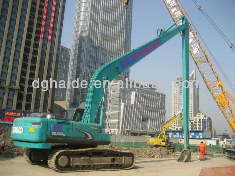 CE-approved Kobelco long reach boom