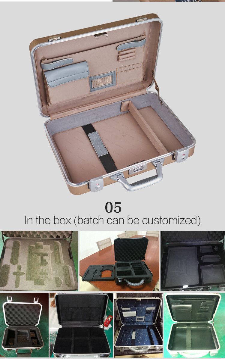 hard carrying case for laptop aluminum metal suitcase aluminium briefcase