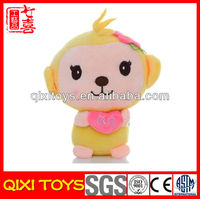 Custom Cartoon Style QQ Plush Monkey Toy Stuffed Plush Toy