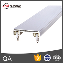 PVC plastic curtain double rail for curtain accessories