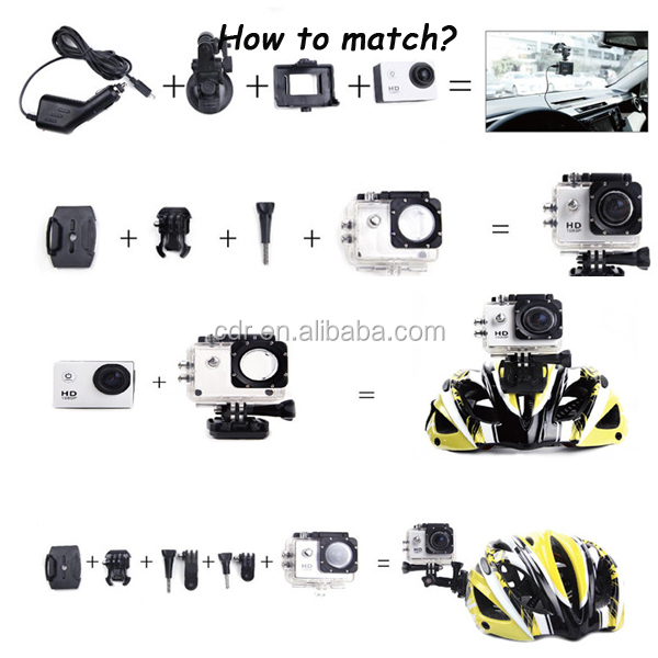 Factory Supply New Arrival Private Housing Full HD1080P 2.0inch Wrist Control Waterproof 30m Wifi Car Mini DV Camera YM-Q3