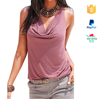 2016 latest design simple pink lady blouse & top