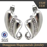 Cheaper Price Fashionable Design Single Stone Earrings