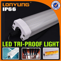 low freight DLC France fluorescent metal strip LED Batten light fixture