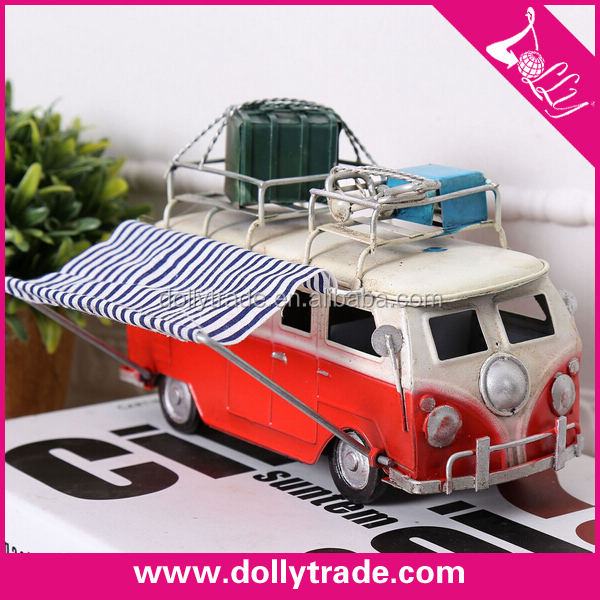 antique diecast metal model car for bar decoration