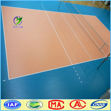 Low cost portable used volleyball court sport PVC flooring