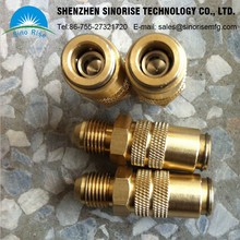 OEM Brass CNC Lathe parts milling parts threaded sleeve tube threaded insert for led light parts