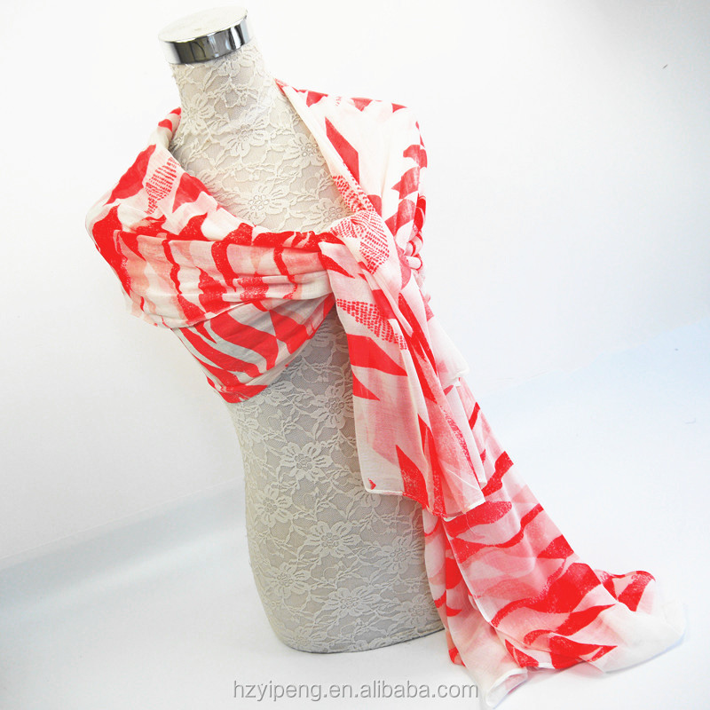 New professional pink white diamond pattern custom print 100 viscose shawl scarf women ladies