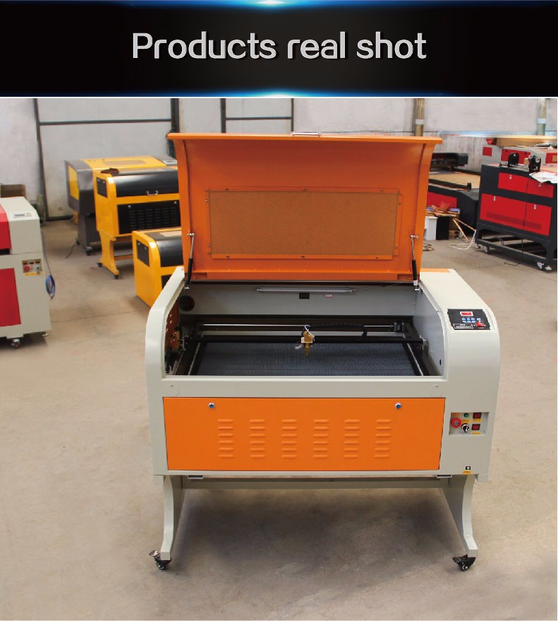 Big working area 600*900mm size CO2 laser cutter 6090 60W promotion laser engraving machine