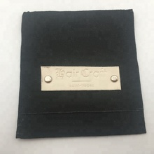 Black Suede Envelope <strong>Bag</strong> With Leather Label