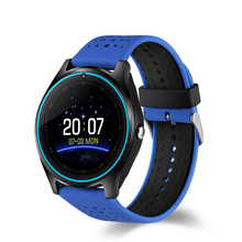 2018 Sport Silicone Watchband V9 Smart Watch,With Pedometer SIM Card 0.3m Camera Smartwatch