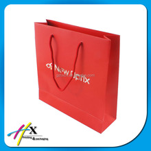 New products gift paper with long length handle own logo gift bags
