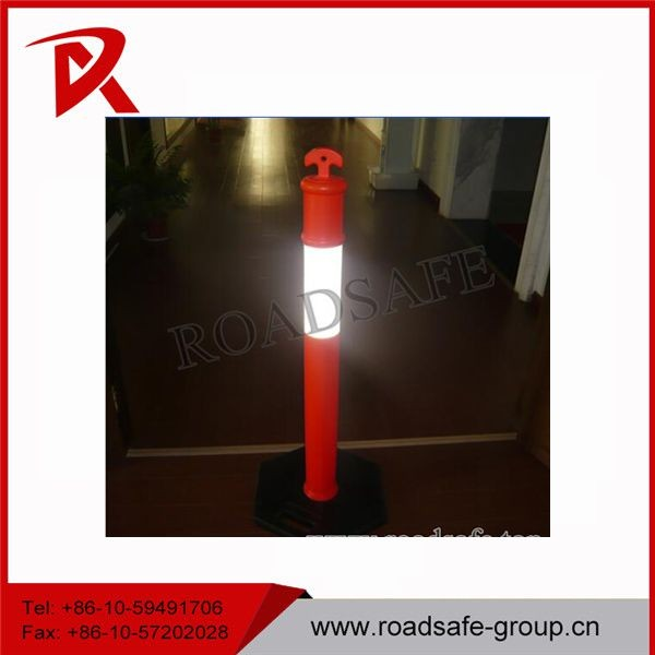 traffic safety 1100mm reflective delineator post t-top plastic bollard