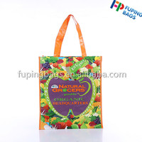 double sided printed PP woven laminated shopping bag /recycled pp eco woven bag with handles from China Alibaba
