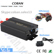 remote control and immobilizer car gps tracker , Coban gps tracker for fleet management with free web APP platform