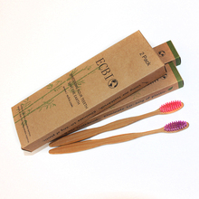 Unique Design for each Eco-Friendly biodegradable Bamboo Handles for adult FDA report biodegradable bamboo toothbrush custom
