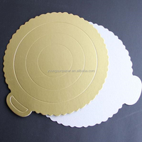 3mm Gold & silver metallic foil laminated cake bases 3mm paper cake board