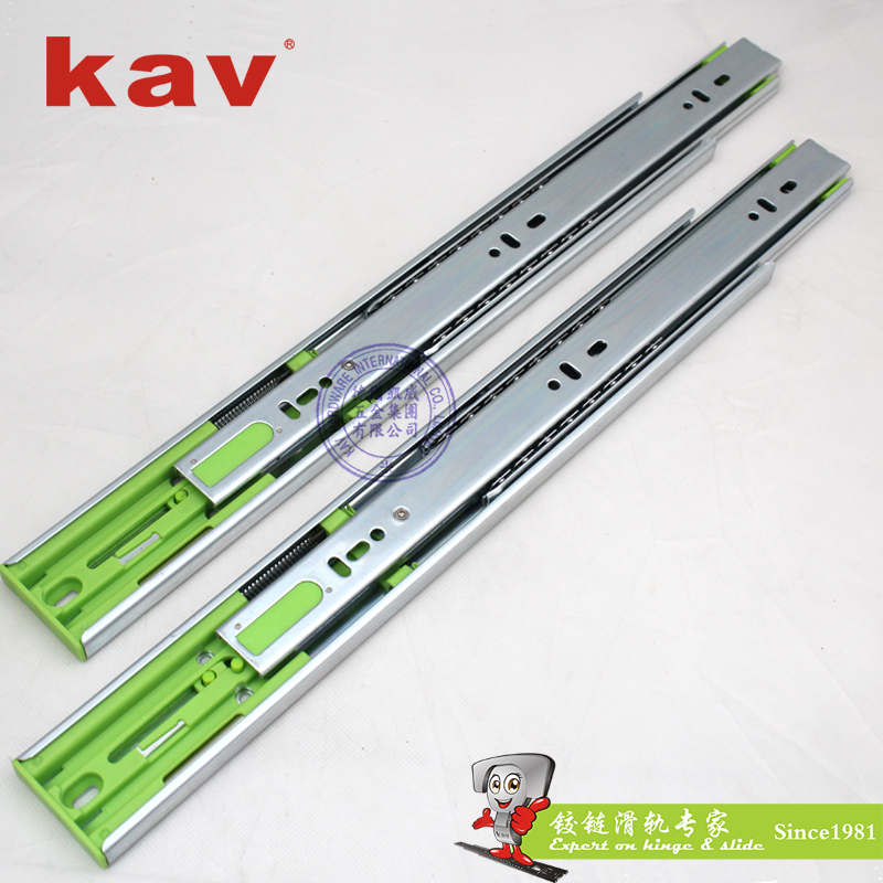 auto closing kitchen cabinet rail full extension ball bearing drawer rails (450H)