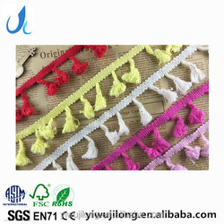 cheap high quality cotton lace trimming curtain tassel 4 cm cotton lace for garments